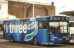 Bus Eireann KC159 (UZG159). (Fred Dean Jnr) Tags: gac buseireann kc159 zg uzg159 tv3 alloverad parnellplacebusstation cork january2001 buseireannroute205a