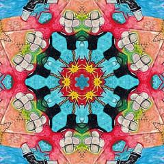Kaleido Abstract 1898 (Lostash) Tags: art abstract edited nature patterns symmetry kaleidoscopes