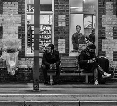 Framed   (1 of 3 street) (+Pattycake+) Tags: eastcoast offseason 10dec18 street winter candid framed ipswich railwaystation transport people felixstowe winterseaside seaside old lumix panasonic gm1 1445mm lumixdmcgm1 mirrorless streetphotography town coastal