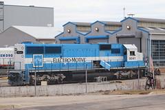 The last oakway SD60 (aquascissors) Tags: railroad railfanning railfan railway rail trains chicago train emd electromotive emdlagrange lagrange mccook emdmccook progressrail sd60 oakwaysd60 emdsd60 oakway