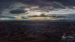 Late afternoon clouds from 200 feet