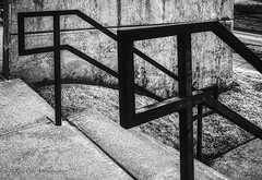 The Railings (Kool Cats Photography over 11 Million Views) Tags: railings two architecture artistic art abstract blackandwhite bw highcontrast highlights lines photography oklahoma outdoor concrete contrast textures dark design