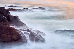 Wave Falls (Whitney Goodey) Tags: water sunrise rocks longexposure ocean depoebay oregon usa