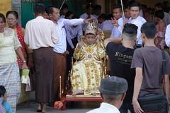 Ordination ceremony for novice Buddhist monks, Shwedagon Pagoda, Yangon (4) (Prof. Mortel) Tags: myanmar burma yangon rangoon buddhist pagoda shwedagon monks