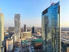 Rondo 1 (Wojtek Gurak) Tags: skyscraper tower drone warsaw warszawa poland panorama skyline rondo1 som skidmoreowingsmerrill