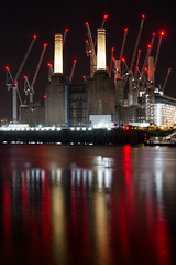 Battersea Power Station (Owentheoptician) Tags: battersea power station london river thames south bank low light night photography construction building renovating disused listed buiding canon 650d owen hilton bushey heath opticians reflections