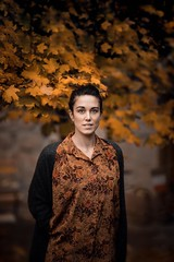 autumn mood (Jeremy B williams) Tags: autumn artpicture lozere eyes beauté beautiful browneyes browhairs love girl wife mode mood portrait leaves color