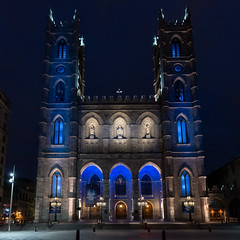 Notre-Dame Basilica (1829), v03, 110 rue Notre-Dame O, Montreal, QC, Canada (lumierefl) Tags: montreal quebec canada can northamerica frenchcanada architecture building religion religious church christian catholic basilica gothicrevival night 1820s 19thcentury