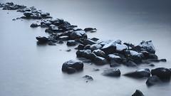 Cold Stones (jurgenkubel) Tags: seascape landscape landschaft sea balticsea ostsee östersjön tree jetty träd brygga baum see meer blue blå sweden sverige schweden olympus water snow snö frost blau