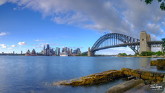 JHG_GFX50s-013371-Pano.jpg (Julian Gazzard) Tags: arch landscape bridge reflection day tourist aerial holiday sea modern nsw twilight architecture bay wales skyline australia downtown cbd night colour business sunrise sunset morning icon landmark sydney harbor south water evening new dusk dawn famous blue urban australian city travel tower opera panorama sky building house tourism harbour cityscape