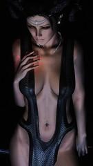TESV (АлексМ) Tags: portrait dem demonica race clothing eva game skyrim vampire lady body head magic tes black art nophotoshop enb screen