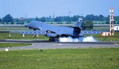 Berlin SXF ILA 2010 B-1B US Air Force (rieblinga) Tags: berlin sxf schönefeld ila 2010 us air force b1b bomber landung ankunft analog canon eos 1v agfa ct precisa 100 diafilm