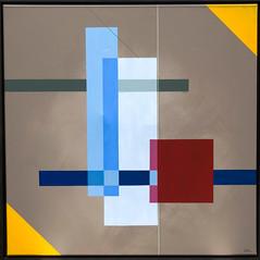 28 - 2018 - TRANSPARENZ (HolgerArt) Tags: konstruktivismus gemälde kunst art acryl painting malerei farben abstrakt modern grafisch konstruktiv