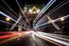 Warp Speed (Rich Walker Photography) Tags: towerbridge lighttrails lights traffic traffictrails road roads rushhour london city cityscape cityscapes longexposure longexposures longexposurephotography bridge night nightshot nighttime nightlights canon england efs1585mmisusm eos eos80d