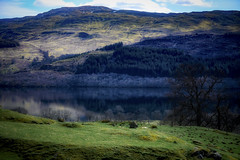 Reflection in the lake .. Scotland (Julie Greg .. Holiday 13/12 - 31/12 2018) Tags: scotland landscape lake reflection colours mountains tree trees grass sky clouds