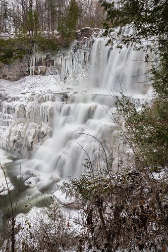 Icy Chittenango Falls Viewed From the Middle Overlook