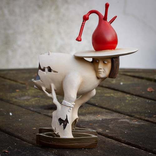 A figurine from an Hieronymus Bosch painting