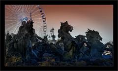 Le triomphe de la République (Jean-Louis DUMAS) Tags: fontaine statue sky ciel bordeaux animal cheval horse granderoue