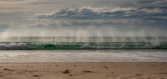 Port Willunga (Helen C Photography) Tags: south australia ocean beach water wave surf spray clouds nature blue green turquoise sand