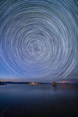 Turn...Turn...Turn... (alicecahill) Tags: starryskies night usa ©alicecahill easternsierra stars startrails monocounty sky circular ca california monolake