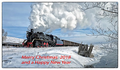 Season's greetings with all good wishes for the New Year (Welsh Gold) Tags: sy 282 tender steam 1225 wu jiu coal group line inner mongolia china 2017 locomotive