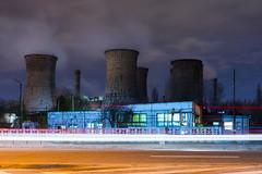 Grozavesti Power Plant (αpix) Tags: bucuresti bucharest power plant cet grozavesti romania sony alpha night view