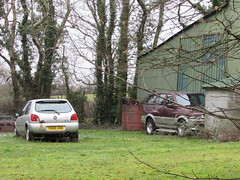 Abandoned Cars. (Andrew 2.8i) Tags: wales uk carspotting spotted spotting street car cars streetspotting united kingdom hatch hatchback lx zetec abandoned rusty unloved neglected fiesta ford suv offroad southkorean musso ssangyong