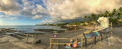 Late afternoon. The last to leave! (ShutterOak) Tags: hawaii beach sunset people bigisland ocean coast
