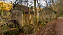 No longer wheeling water. (Ian Emerson (Thanks for all the comments and faves) Tags: peakdistrict outdoor landscape architecture abandoned waterwheel mill derbyshire hiking ashfordonthewater river water derelict overgrown trees path indusrty heritage england