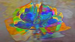 Bildschichten PlastikSkulpturen 10 (wos---art) Tags: bildschichten plastik skulpturen müll folien immeer plastikmüll flower faces masks