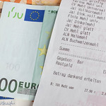 Euro banknotes and receipt thumbnail