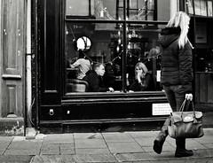 Cafe Culture (Bury Gardener) Tags: monochrome mono blackandwhite bw england eastanglia uk people peoplewatching folks burystedmunds nikond7200 nikon 2018 suffolk streetphotography street streetcandids strangers candid candids abbeygatestreet