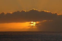 Sunset at Ulehawa Beach Park 3 (Fletch in HI) Tags: nikon d5600 tamron 16300 sky clouds water ocean oahu hawaii