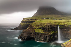 Gásadalur - Faroe Islands ( fabienne fauré) Tags: faroeislands ilesféroé gásadalur cascade sea montagne canon pose longue longexposure 5d mark iii filters 2470mm mountain vágar faroe danemark nisi poselongue ile islands