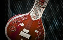 Sitar (roomman) Tags: 2019 poland warsaw asia pacific museum exhibition asiapacific muzeum azji pacyfiku musik music instrument instruments guitar sitar red colour india indian culture andrzej wawrzyniak andrzejwawrzyniak heritage interesting solec