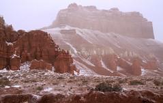 Wild Horse Butte Snow (arbyreed) Tags: arbyreed winter cold snow snowing redrock wildhorsebutte misty fogy snowy sandstone goblinvalley emerycountyutah