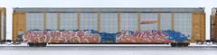 Fobek/Knab (quiet-silence) Tags: graffiti graff freight fr8 train railroad railcar art fobek knab hof vds autorack bnsf ttgx952314