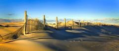 Assateague Island Fence and Dune (johncarterphoto) Tags: blue orange black tan 2019 assateague maryland beach fence sand sky