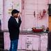 Sipping Chai by Pink Wall, Varanasi India