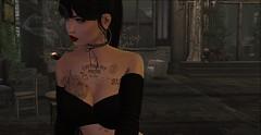 Full Moon Cigarette (ƁЄƝƖӇƛ ƤƖƝƘMƛƝ) Tags: secondlife people portrait amateur smoke tattoo elysion blueberry catwa redlips lipstick bolson photography