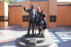 """Tracey and Scott with the Disney Partners Statue • <a style=""""font-size:0.8em;"""" href=""""http://www.flickr.com/photos/28558260@N04/30892952057/"""" target=""""_blank"""">View on Flickr</a>"""