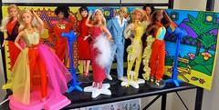 MY SUPERSTAR ERA SHELF! (ModBarbieLover) Tags: 1978 1977 superstar ken barbie doll mattel 1970s disco photo studio red yellow best buy fashion vintage shelf collection model display han thankssomuch