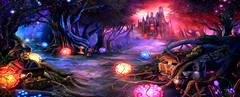 On my way (Mrs.Vaňková) Tags: screenshot fantasy woods forest wald games steam bosque fantasia blue rosa green yellow red purple blau azul amarillo rojo verde pilze mushrooms arbol baum castle schloss castillo