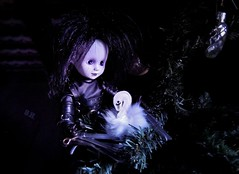 Have yourself a merry little Christmas (pianocats16) Tags: edward scissorhands doll living dead dolls tim burton movie figure old attic christmas tree swan decoration