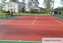 Silicon PU tennis court in Finland (ssgsportsurface) Tags: ssgsportsurface sportflooring runningtrack basketballcourt sportcourt stadium construction epdm syntheticflooring siliconpu prefabricatedrunningtrack