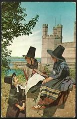Welsh girls in Welsh National Costume (tico_manudo) Tags: welshnationalcostume vintagepostcards welsh gales reinounido