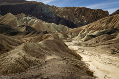 Twenty Mule Team Canyon (NormFox) Tags: badlands california colors deathvalley desert dry land landscape minerals mood morning mountains national nationalpark outdoors park quite rocks senic serene sky valley washout unitedstatesofamerica us