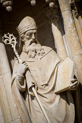 statue of a priest (Sam Scholes) Tags: religion zagrebcathedral statue zagreb travel romancatholic jesuschrist cathedral architecture christianity vacation europe catholic croatia cityofzagreb hr