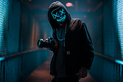 Ready for the Purge (KurteeQue) Tags: challenge thepurge purge mask mood nikon nikond850 d850 85mm strobe strobelight strobist sanfrancisco california street streetphotography scary creepy tones portrait portraitphotography photography d750 friend