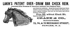crane patent over-draw bar check rein (Al Q) Tags: crane patent overdraw bar check rein equine horse